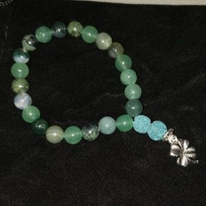 Jewelry - Aventurine, Prehnite, Serpentine, lava Bracelet